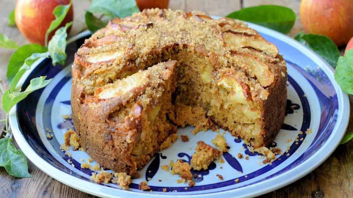 gâteau aux pommes et cassonade épicé