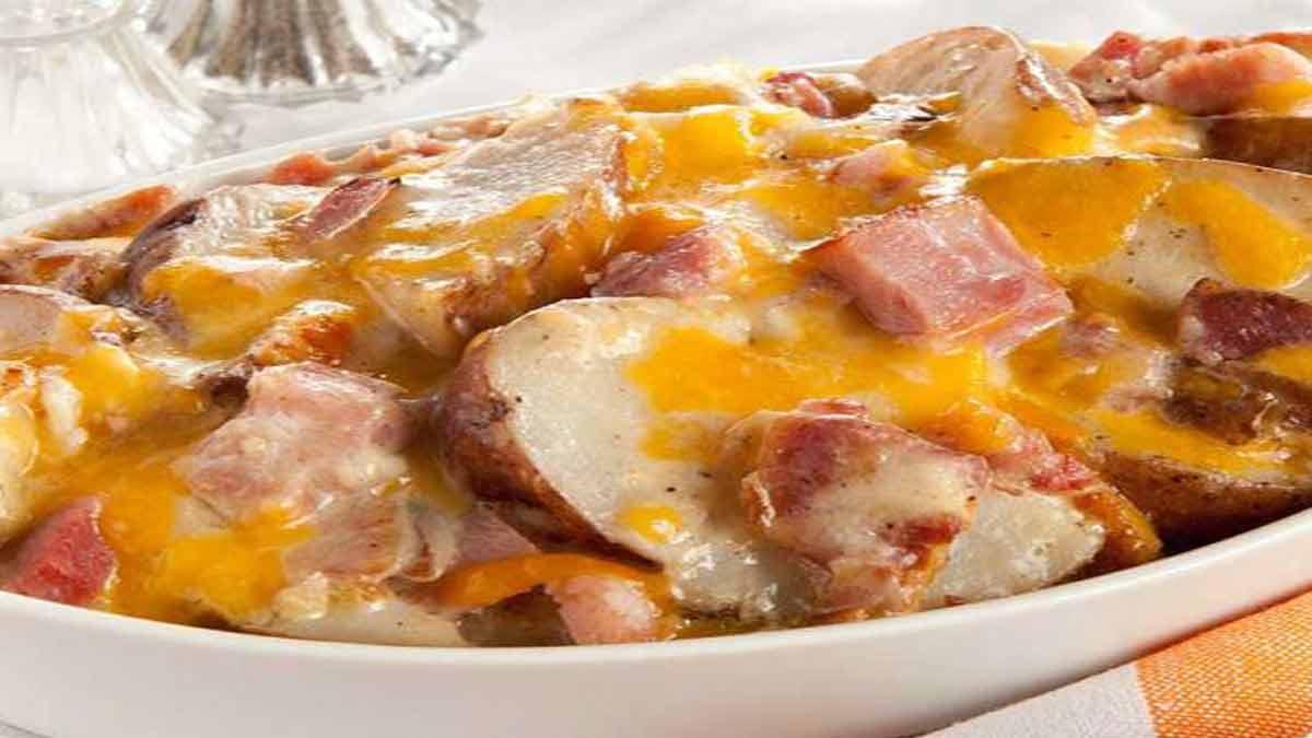 gratin de pommes de terre et de jambon