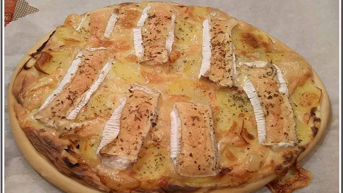 pizza normande au camembert