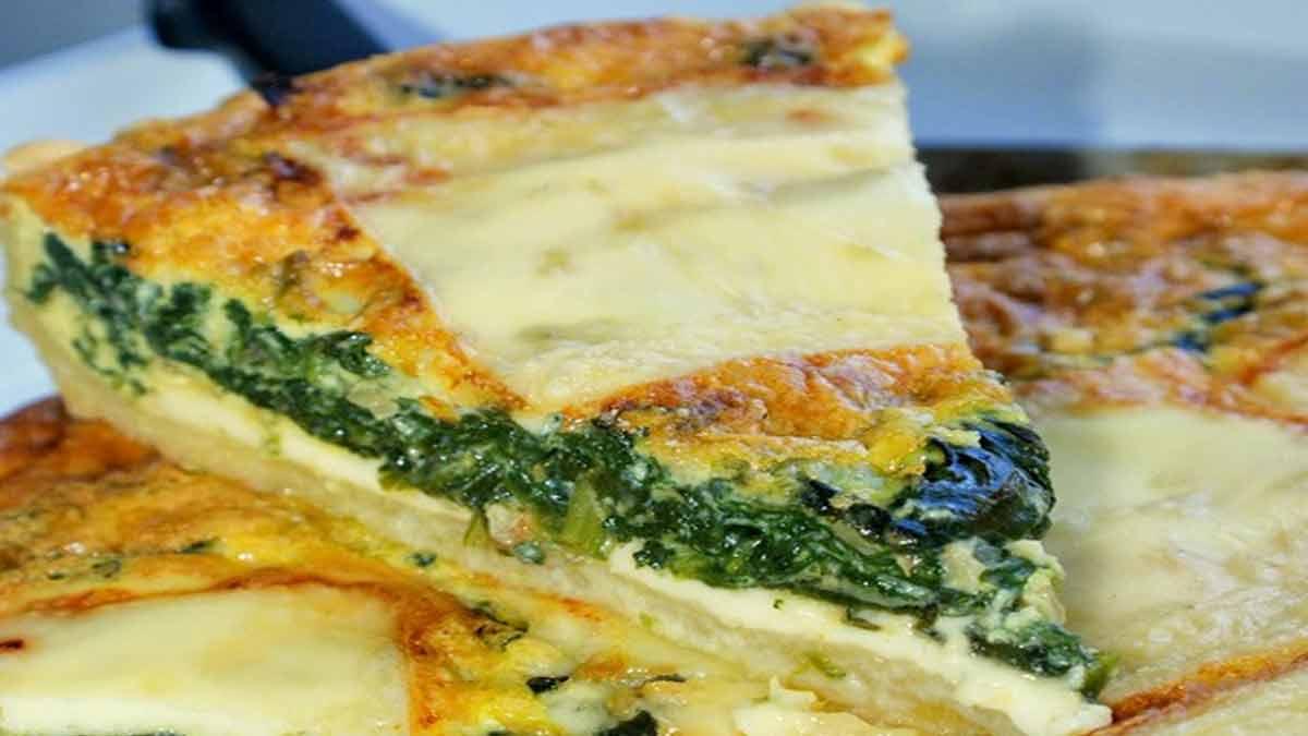 quiche aux épinards et au fromage raclette