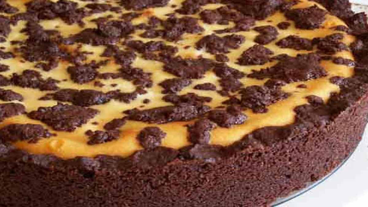 Alléchant gâteau au chocolat et fromage blanc