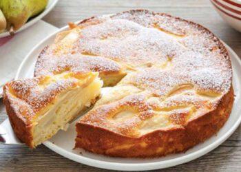 Alléchant gâteau invisible léger aux poires