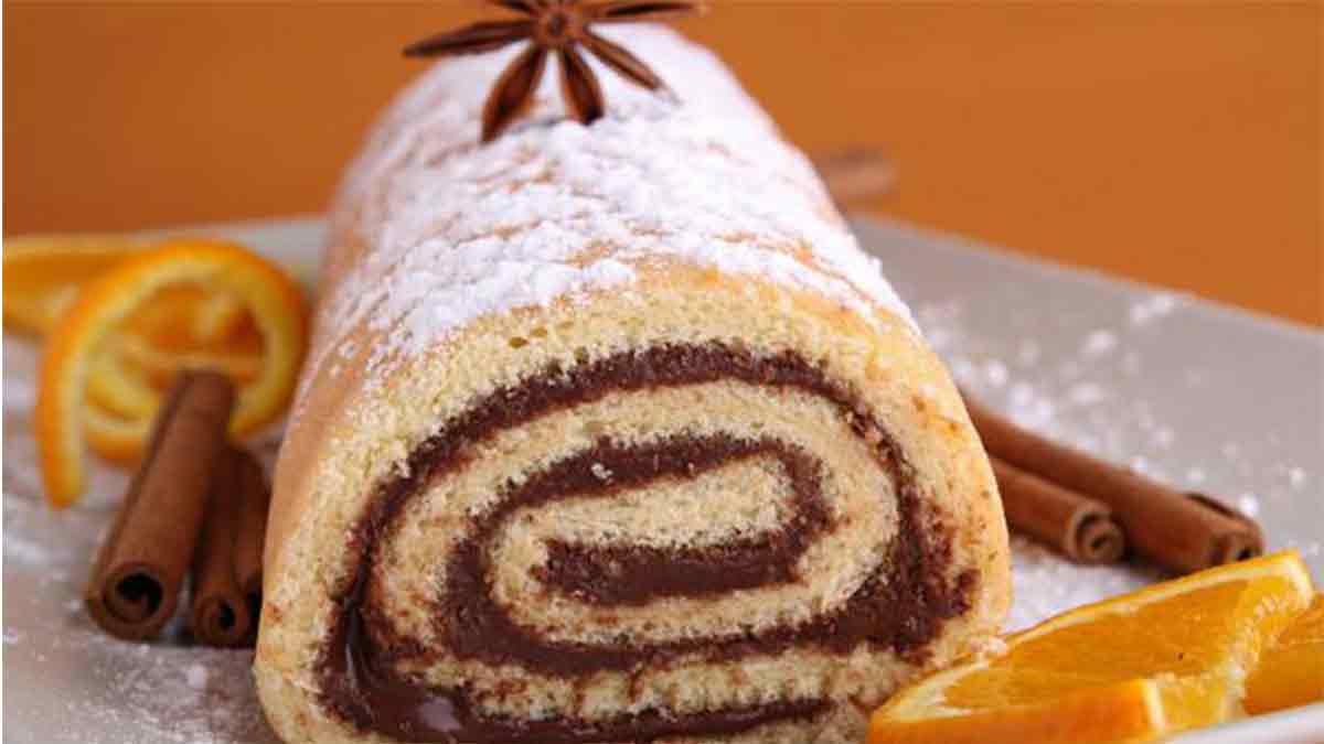Appétissant gâteau roulé facile au Nutella