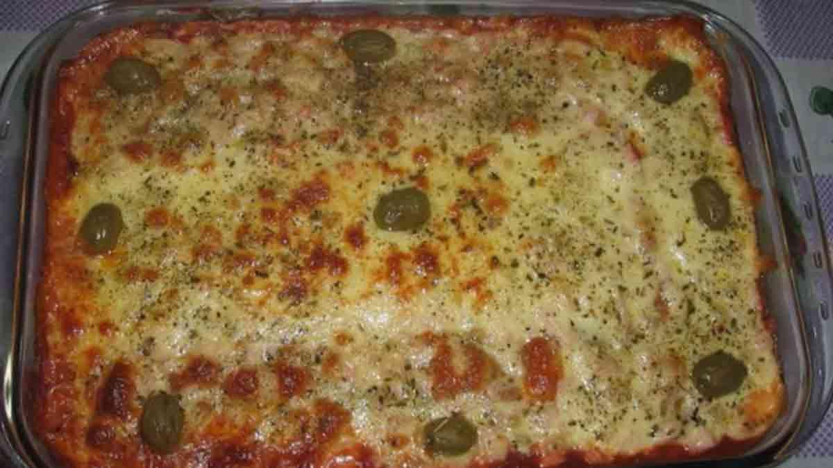 Authentique gratin au jambon-fromage-aux olives
