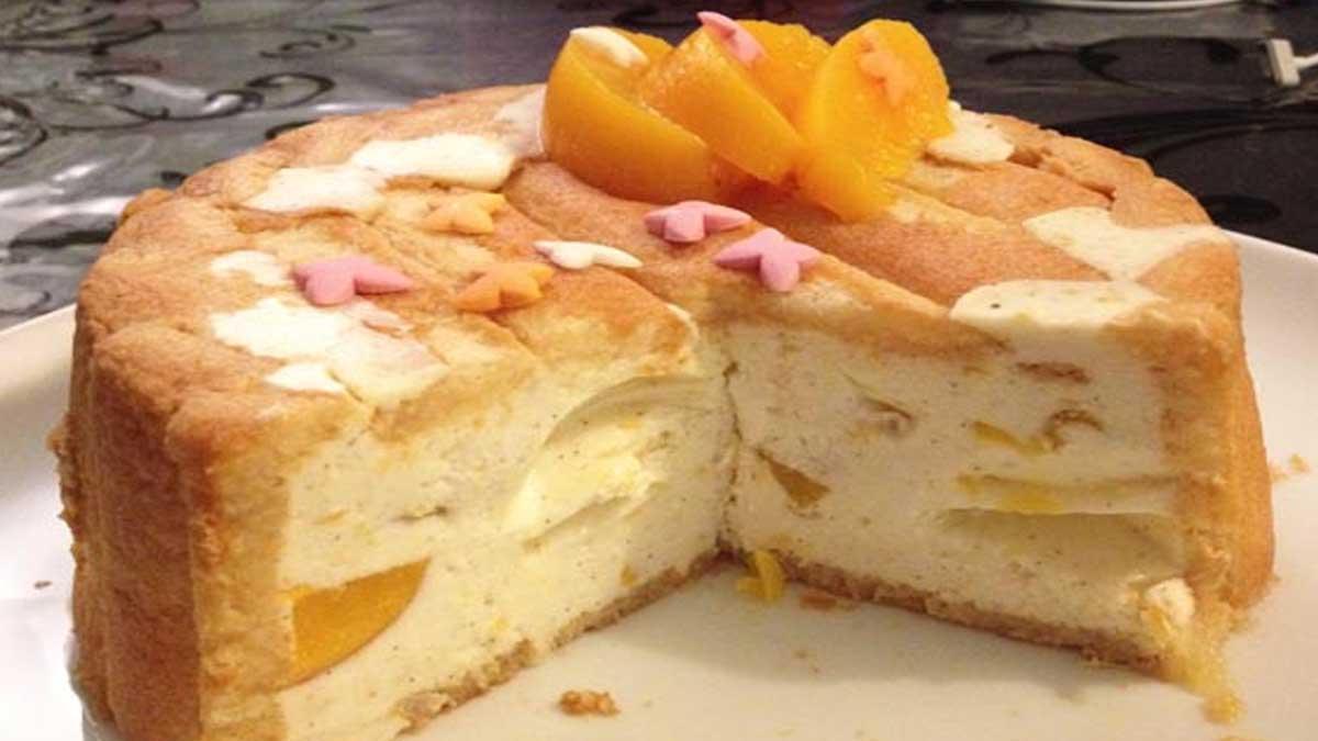 Charlotte abricot vanille et zeste de citron