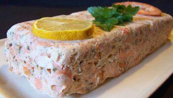 Fabuleuse terrine de crevettes et saumon fumé