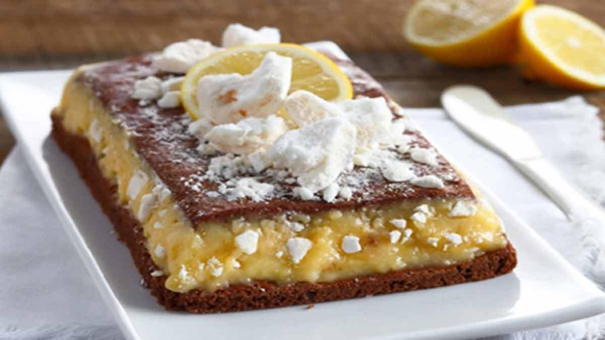 Gâteau chocolat citron meringué