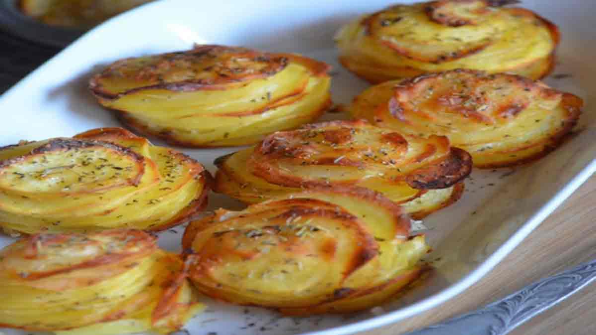 Parfaits millefeuilles de pommes de terre