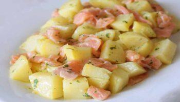 Simplissime salade légère de pommes de terre et saumon fumé