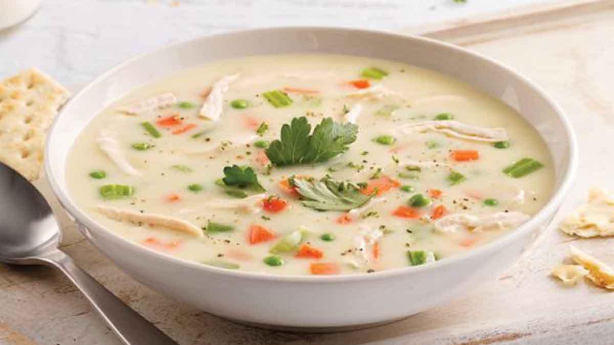 Sublime soupe crémeuse au poulet