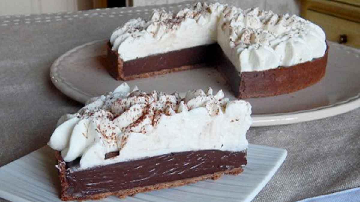 Tarte chocolat liégeois