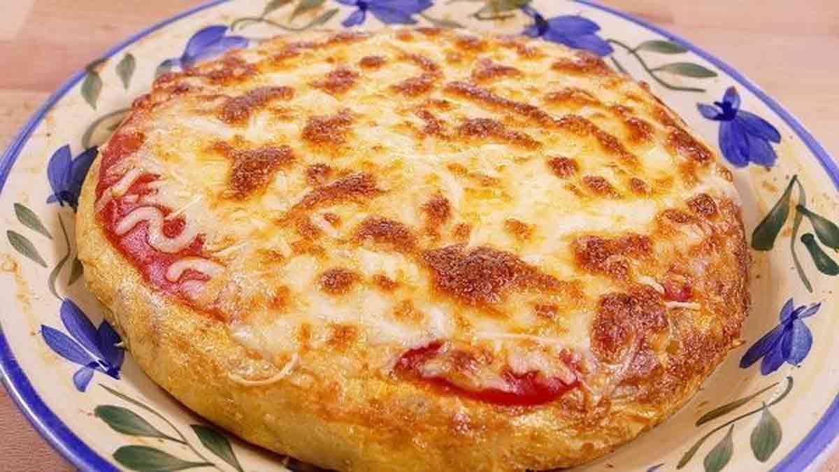 Tortilla de pommes de terre façon pizza