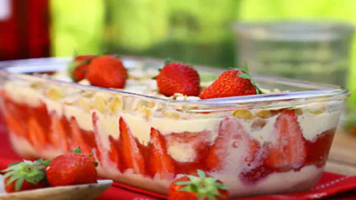 pudding à la fraise