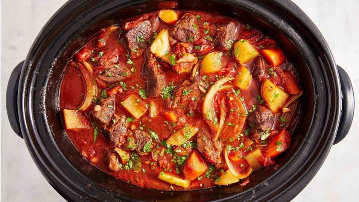 ragoût de bœuf au vin rouge à la mijoteuse