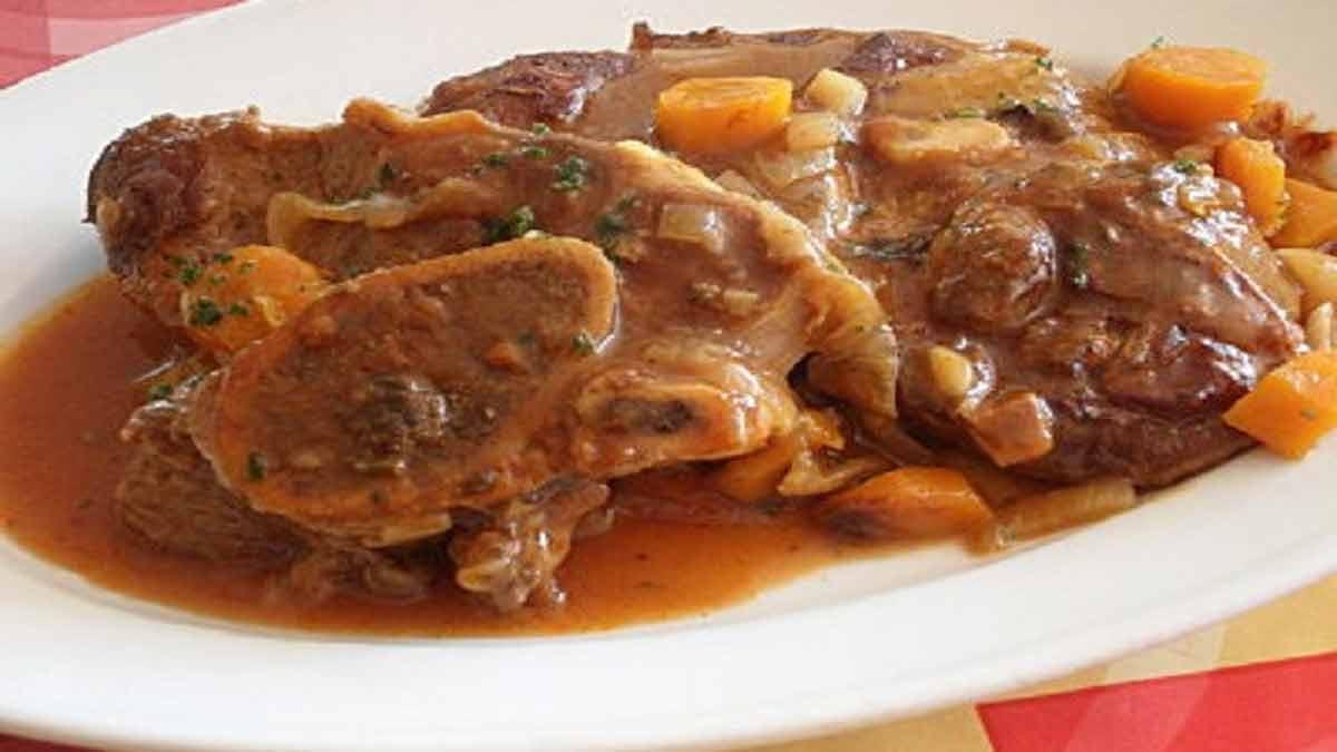 sublime osso bucco de veau italien