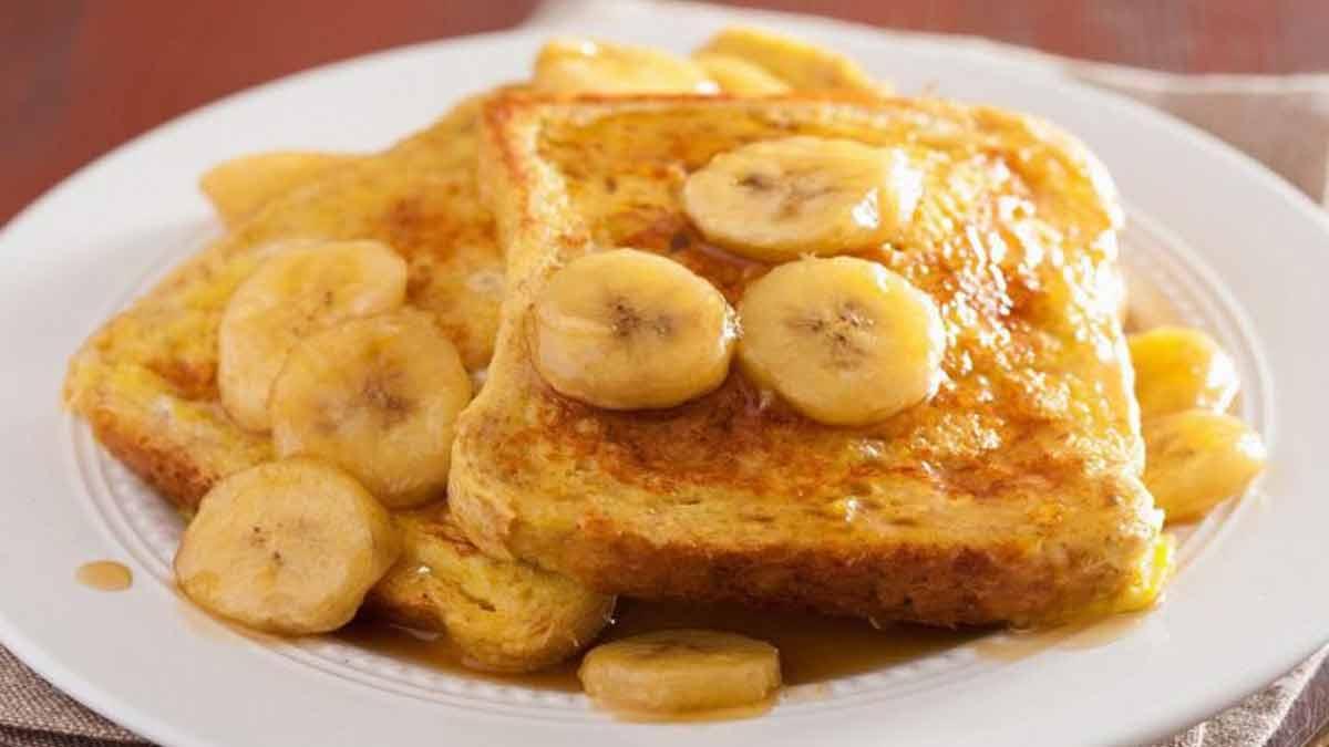 sublime pain perdu brioché aux bananes caramélisées
