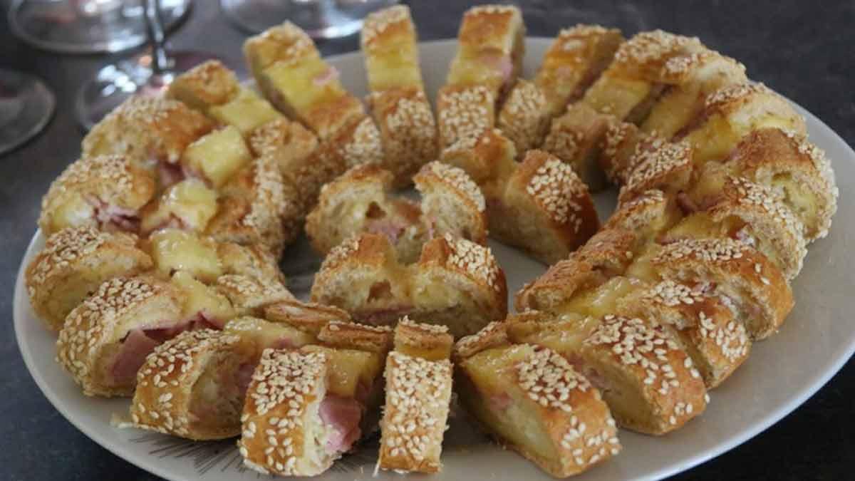 succulentes baguettes apéro œuf-jambon-fromage