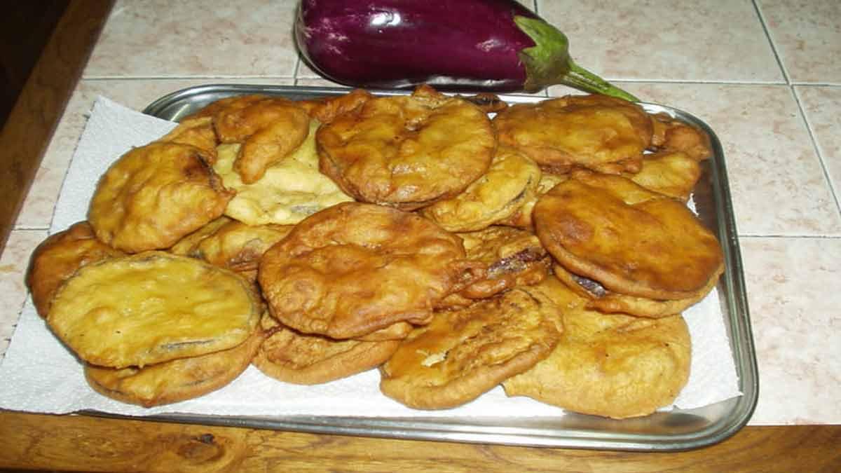 succulents beignets aux aubergines fait-maison