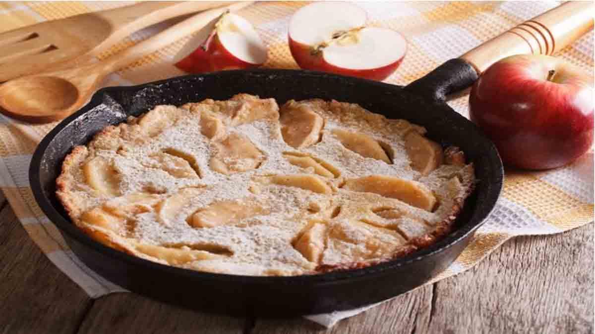tarte aux pommes poêlée