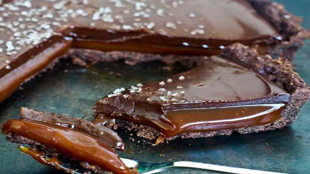 tarte chocolat caramel et sel de mer