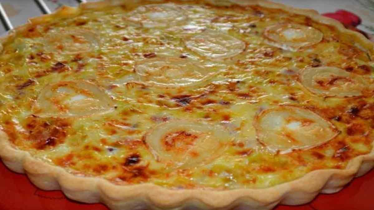 tarte classique poireaux-chèvre-lardons