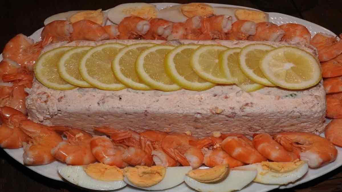 terrine de crevettes au saumon et Saint-Jacques