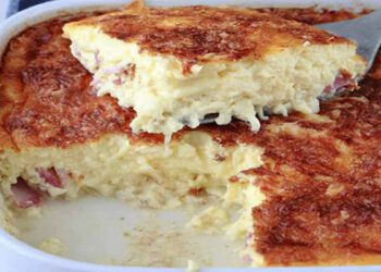 traditionnelle quiche jambon-fromage sans pâte