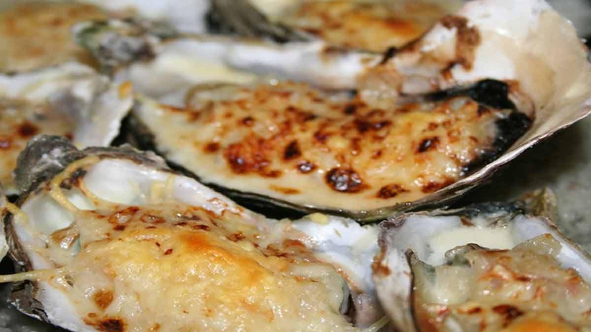 Authentiques huîtres gratinées