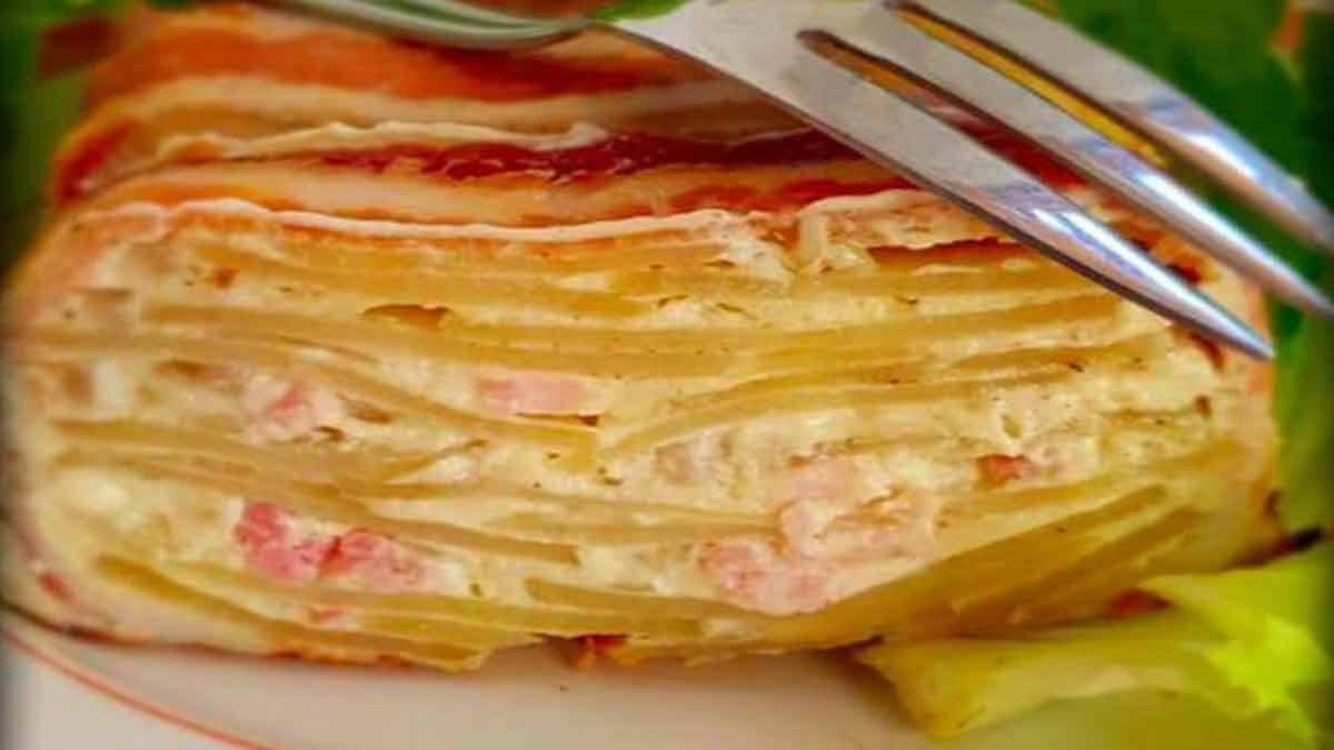Cake de pommes de terre à la crème