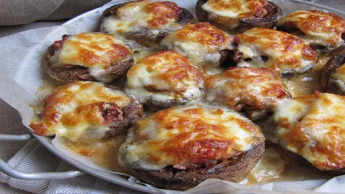 Champignons farcis italiens