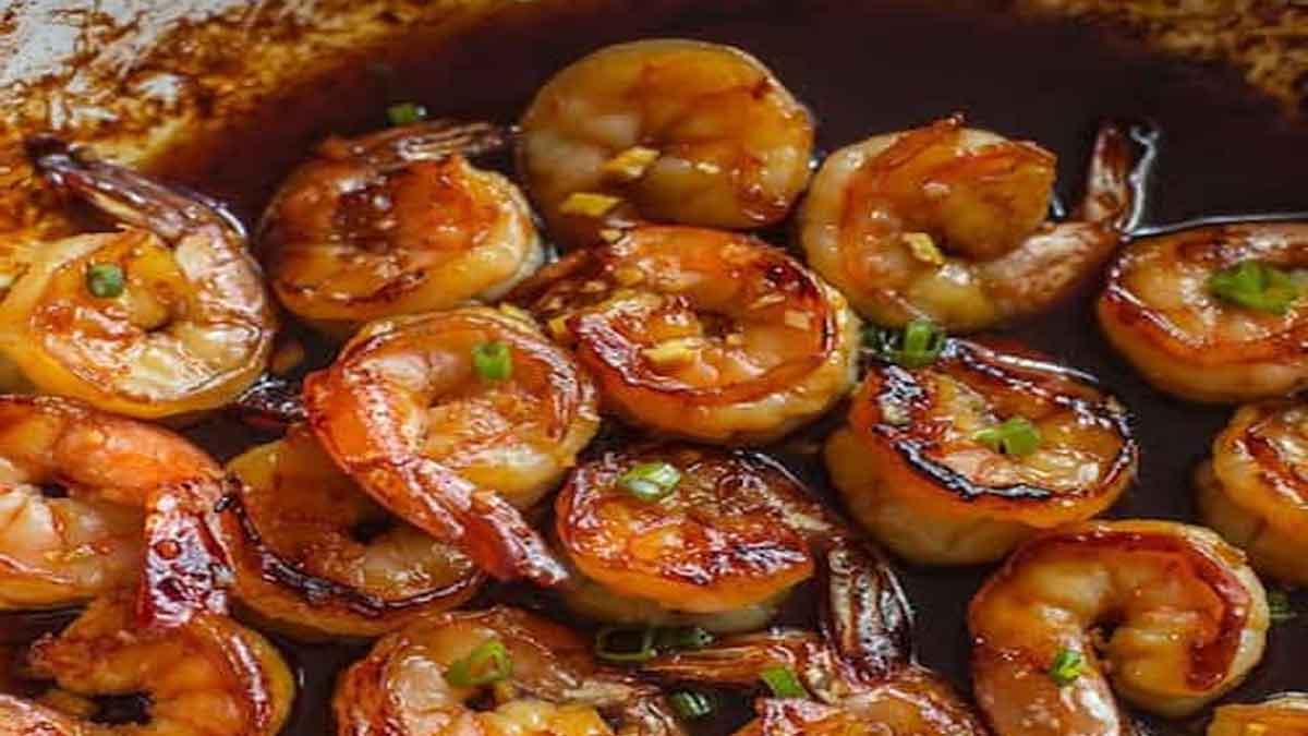 Crevettes avec ail et au miel