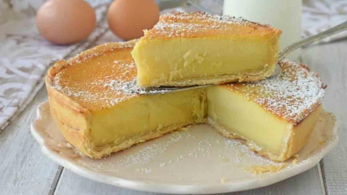 Douce tarte crémeuse au lait