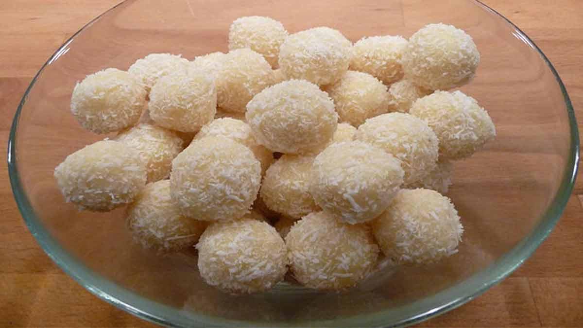 Exotiques truffes à la noix de coco