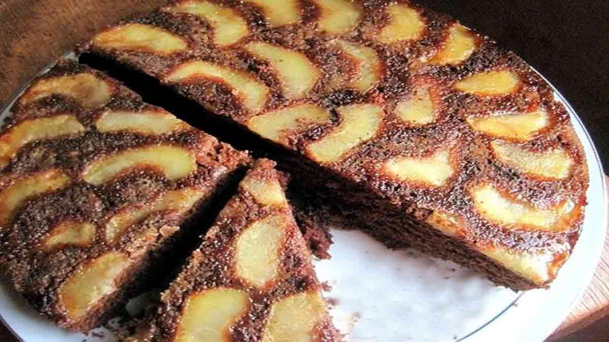 Exquis gâteau aux pommes et au chocolat