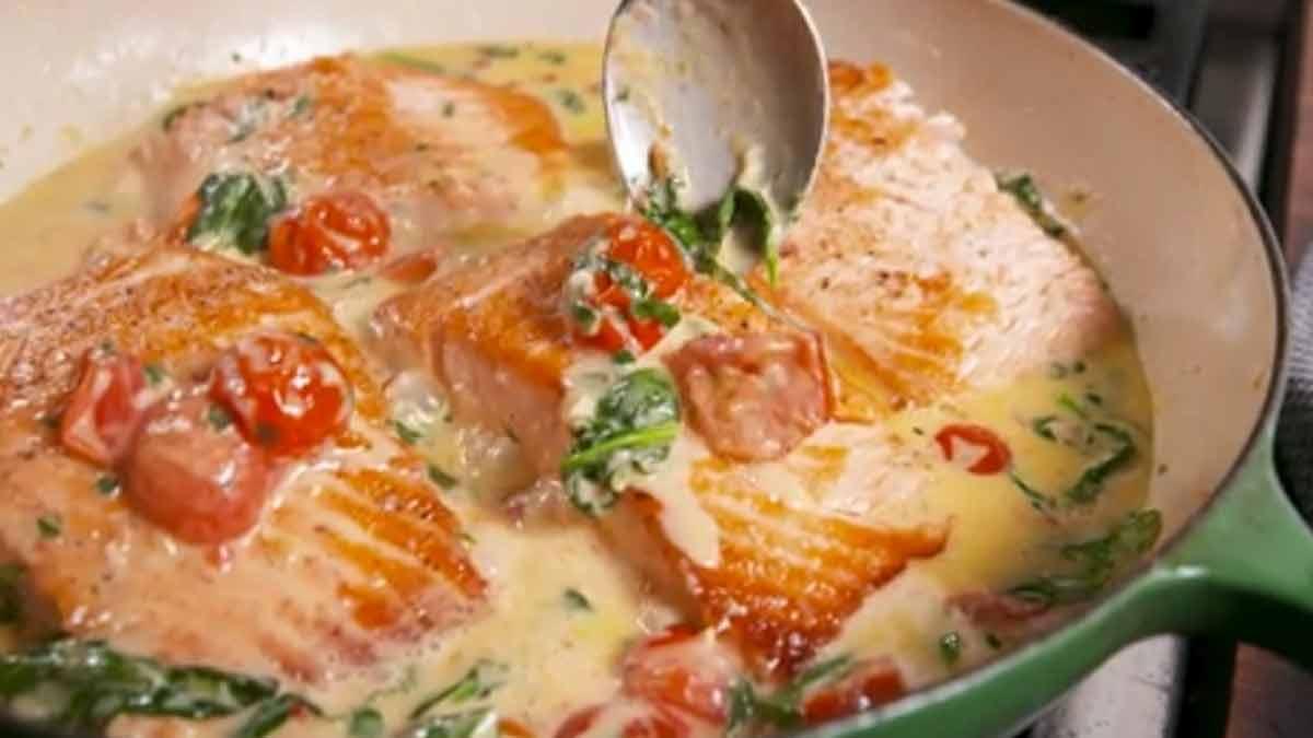 Filets de saumon au beurre à la Toscane