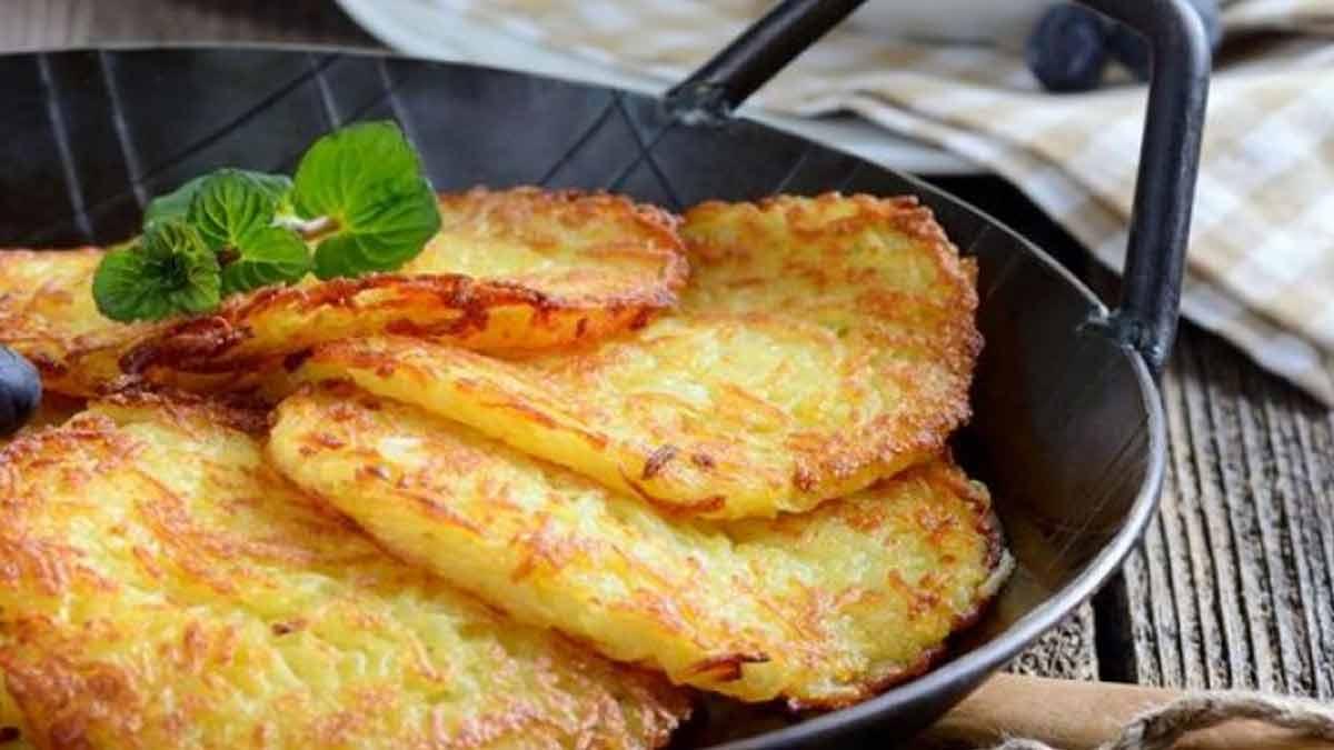délicieuses crêpes de pommes de terre faciles