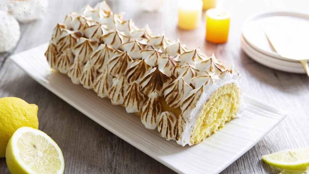 bûche de Noël façon tarte citron meringuée