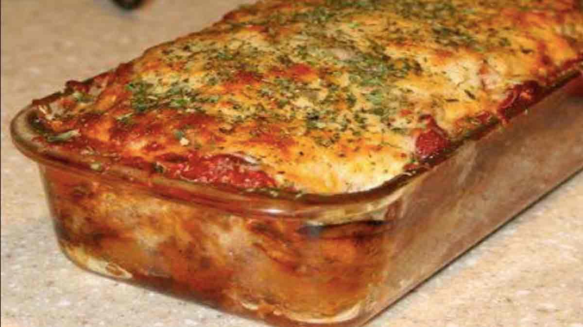 délicieux pain de viande au parmesan gratiné