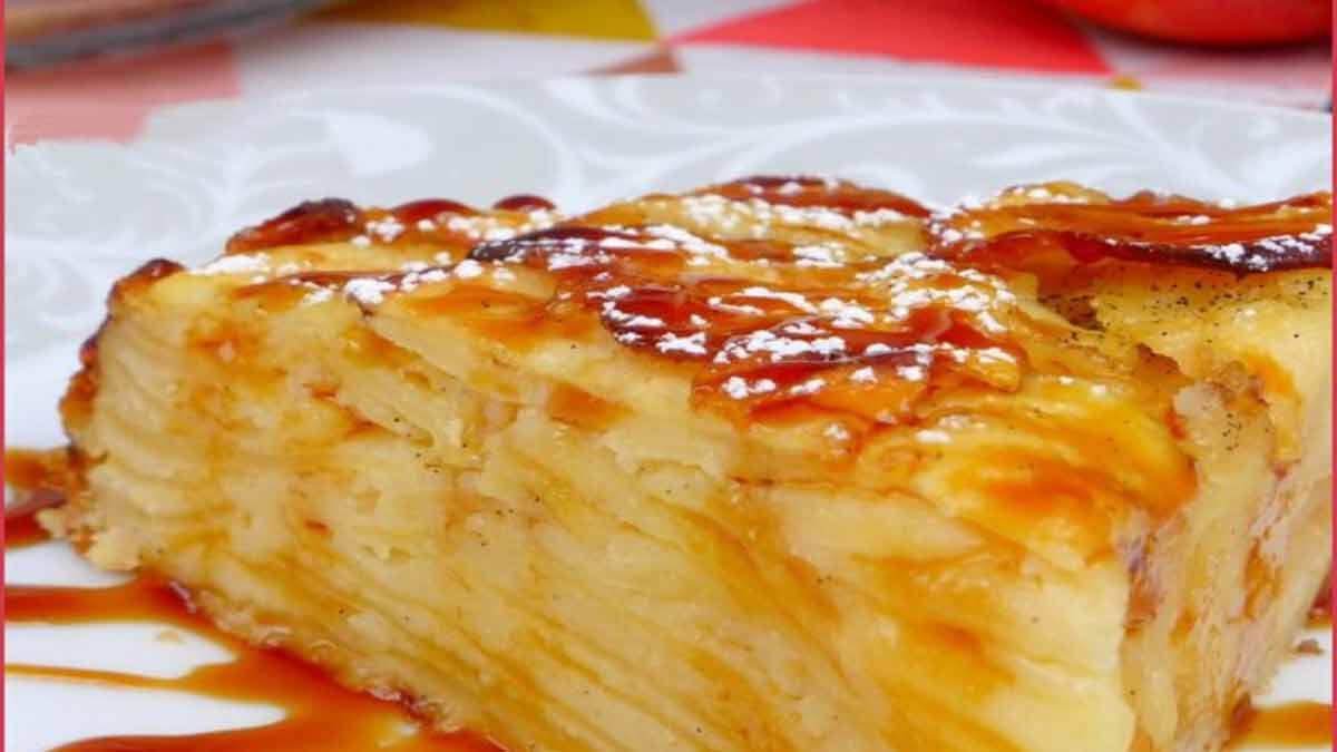 gâteau caramélisé-pommes