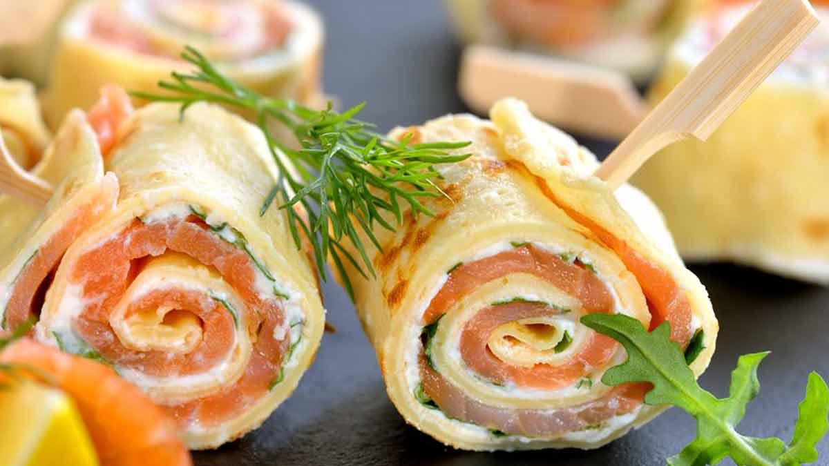 Irrésistibles crêpes au saumon et au fromage frais