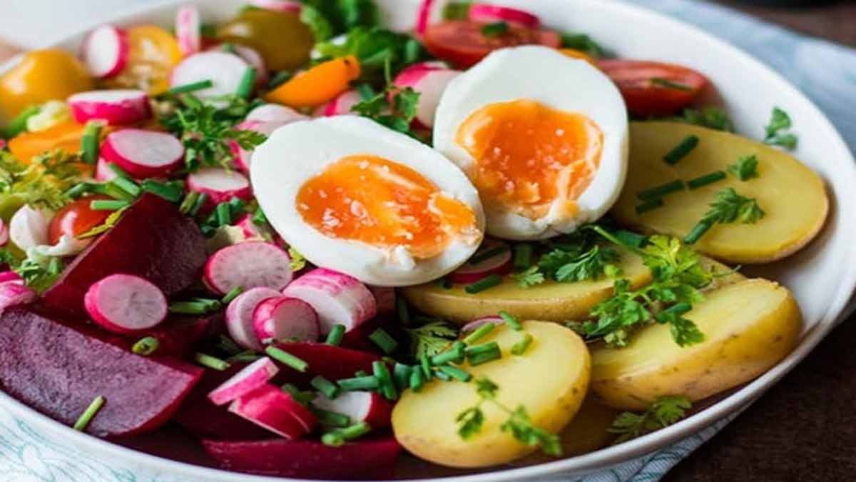 Onctueuse salade complète rafraichissante