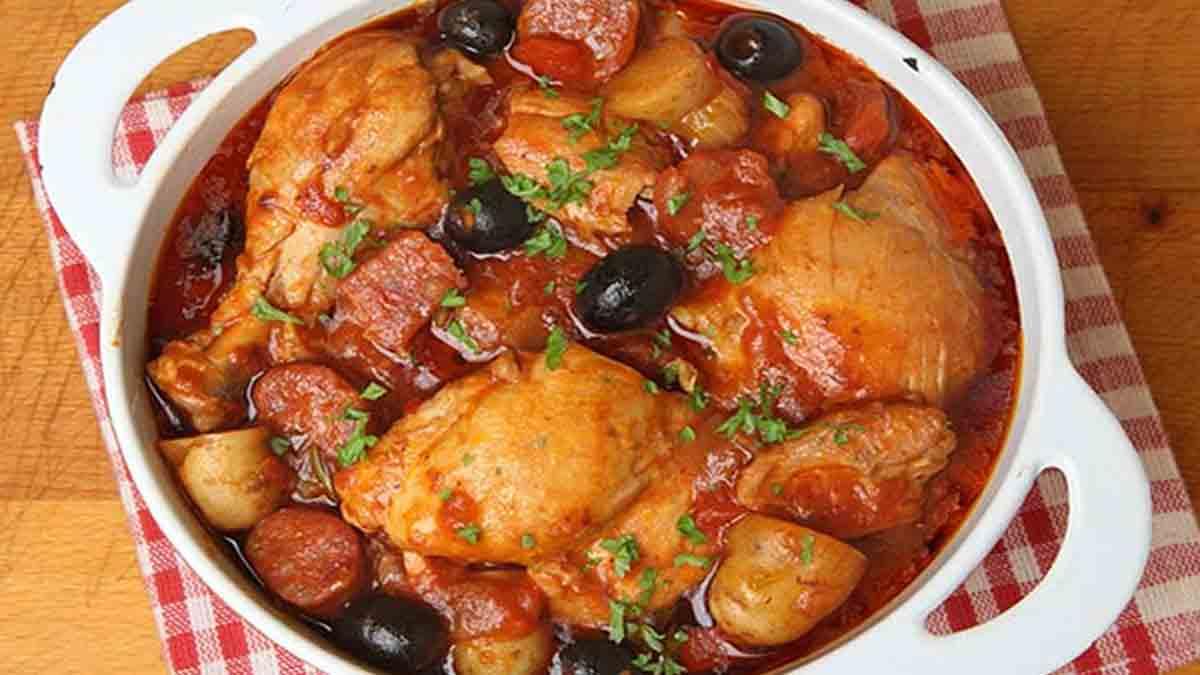 sauté de poulet et chorizo
