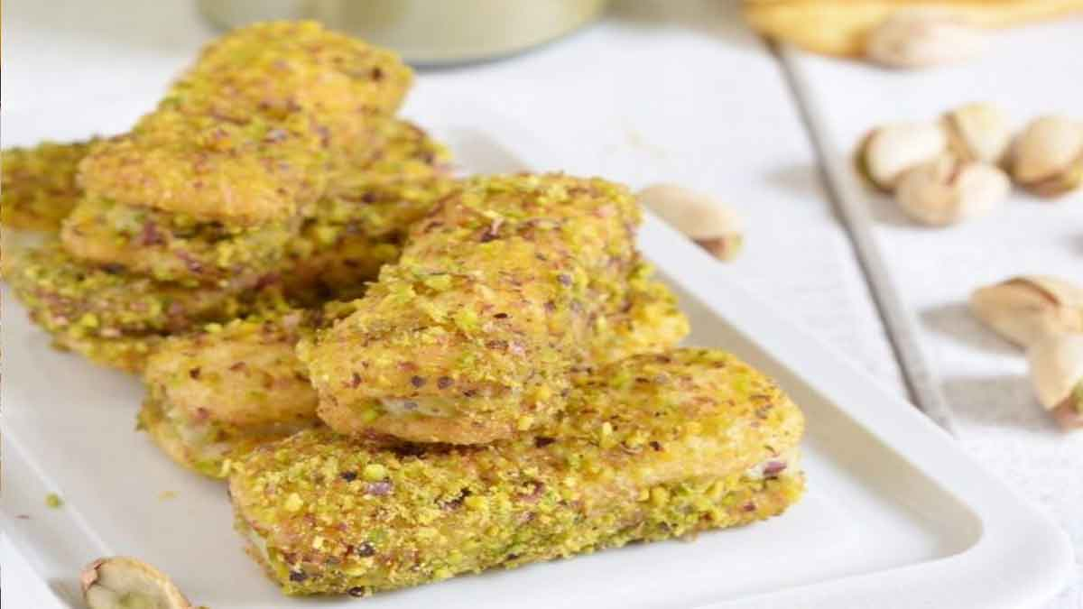 Biscuits aux pistaches et mascarpone
