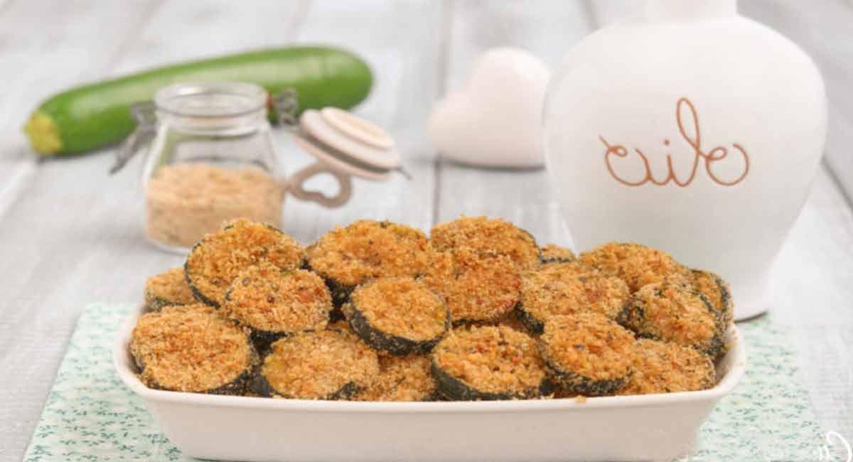 Courgettes croustillantes cuites au four
