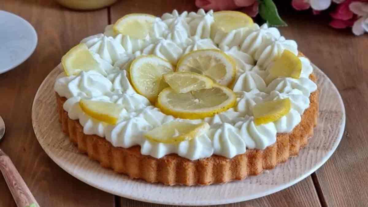 Douce tarte au citron avec lemon curd