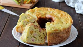 Gâteau aux courgettes jambon et fromage