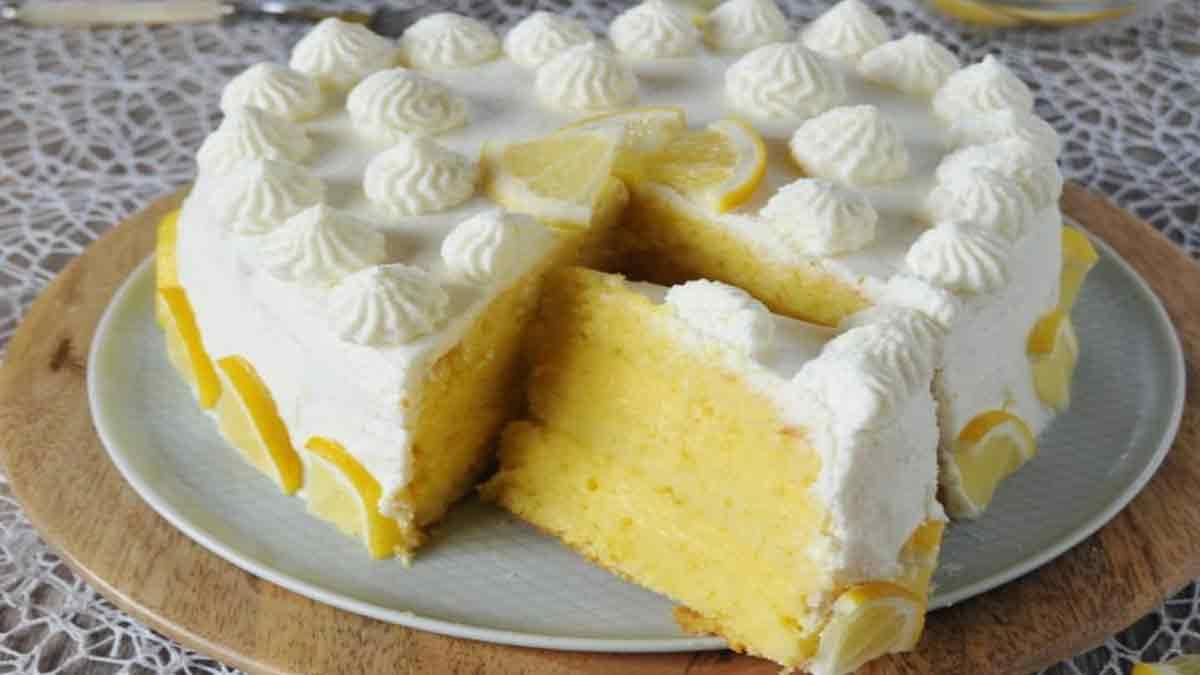Gâteau coeur au citron