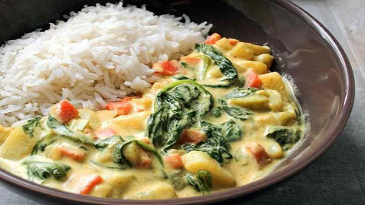 Irrésistible curry de légumes à la crème de coco