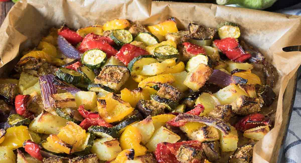 Légumes croustillants au four