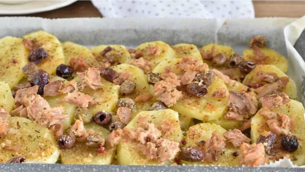pommes de terre aux olives et au thon
